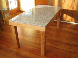 Granite Table with Solid Timber
