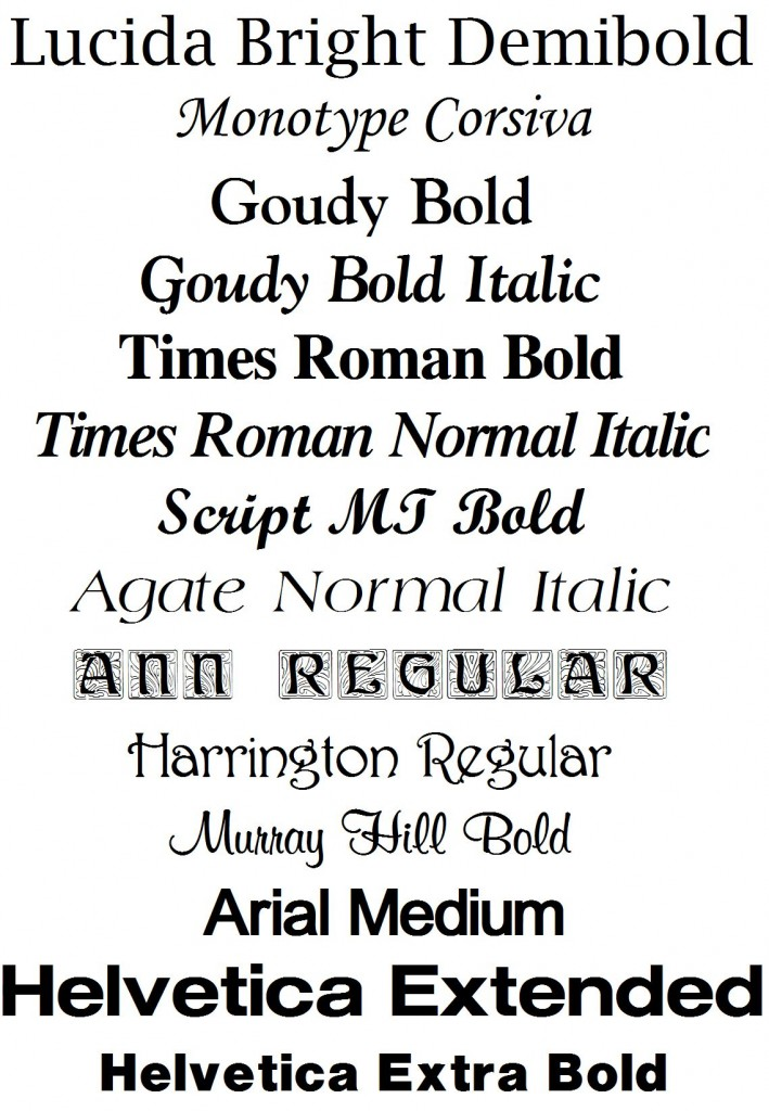 Fonts for headstones