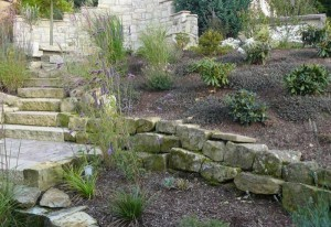 landscaping stairs limeston