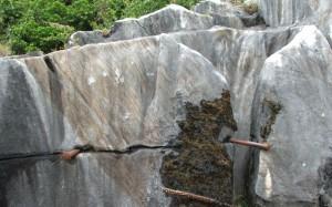 Original material in quarry