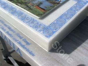 headstone blue