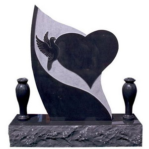 Headstone Heart Dove