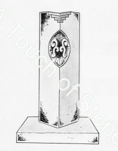 Headstone Koru Stela