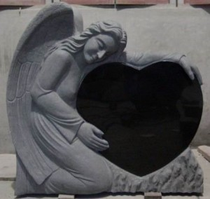 headstones mourning angel