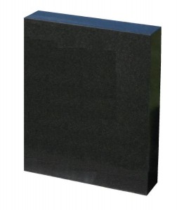 headstone rectangular black