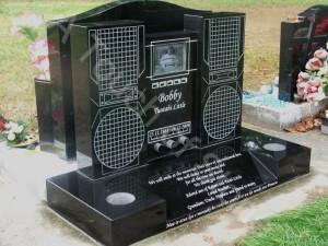 Headstone stereo