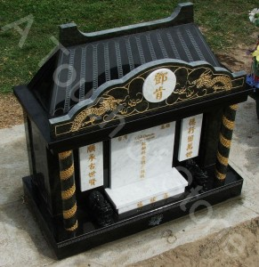 headstone taiwanese spirit house