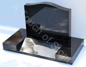 Saddle headstone with Desk shape base