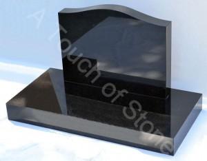 Saddle headstone with Rectangular base