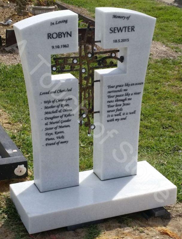 Headstone bronze cross
