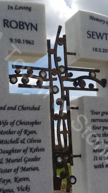 Headstoen Bronze Cross