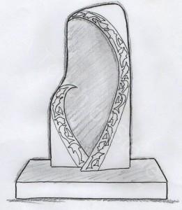 Headstone dolphin madonna